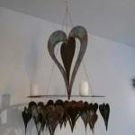 15. Herzen zum Hängen, Rost/Bronzepatiniert  60cm Höhe 59,- 22cm Höhe 14,-
