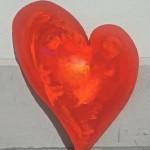 Herz- Wandobjekt, 120 cm h. 180,-