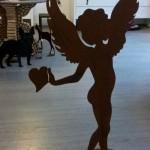 7.  Engel mit Standfuss 120cm/150cm 120,-/150,-