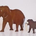 6. Elefant mit Blattgold 10cm Höhe 18,- 20cm Höhe 39,-