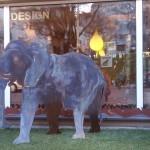8. Elefant mit Bronze, 480,-  verk.