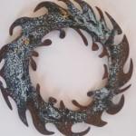 5. kleiner Dekokranz Bronze, 30cm, 35,-
