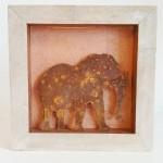 18. Elefant, mit Kupfer 30,-