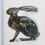 5. Hase mit Bronze, hängen 14,-