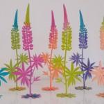 Lupinen, 30cm 4farbig lackiert, 45,- noch 2 Stück vorrätig