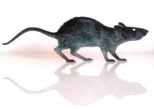 Ratte mit Bronzepatina, 29,00€