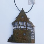 Schellenturm, 12cm, antik veredelt, 32,-