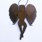 Schutzengel, 12cm, antik versiegelt,  32,-