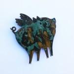 Glücksengel, 10cm, antik veredelt,  mit Nadel , 25,-