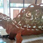 Schildkröte Unikat mit Kupferpatina, 70x140cm, 490,-