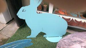 Sim1 blaues Riesenkaninchen, 80x80cm 160,-
