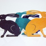 Hase Glimmer in versch. Farben 40cm 80,00€, 60cm 140,00€