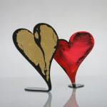 2. Herz mit Blattgold 25,-
