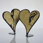 Herzen mit Blattgold, je 25,00€