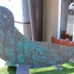 7. Seehund mit Bronzepatina 340,-