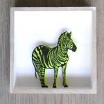 93. Zebra im Holzrahmen  32,-