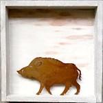 98. Wildschwein im Holrahmen 30,-