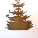 Wandobjekt: fliegender Tannenbaum, 130cm 120,-