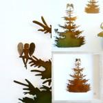 fliegende Tannenbäume, Wandobjekte