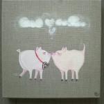 Kuessende Schweinchen Bild, verk.
