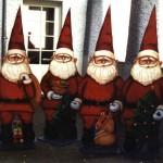 Weihnachtszwerge, Acryl auf Stahlblech