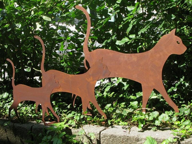 metallfiguren aus stahlblech | simone mertz, Gartengestaltung